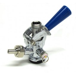 "Coupler, Sankey ""D"" with SS probe, blue handle"