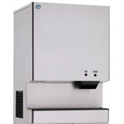 Ice machine/ice & water dispenser, cubelet ice, water cooled, 801 lbs ice/day