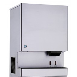 Ice machine/ice & water dispenser, cubelet ice, water cooled, Opti-Serve, 801 lbs ice/day