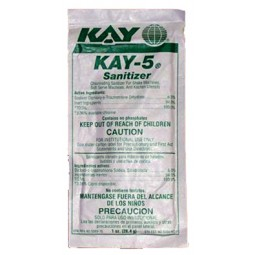 Kay-5 sanitizer, (8) 1 oz. packets per bag