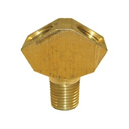 Forged brass Y fitting, (2) 1/4 FPT x 1/4 MPT