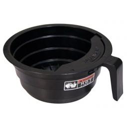 Funnel, black plastic