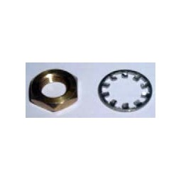Faucet hex jam nut and lock washer