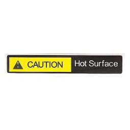 Label, caution hot surface, yellow/black