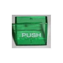 "Green lens cover, ""PUSH"""