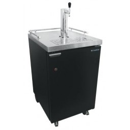 Kegerator with drip tray and 1 faucet column tower
