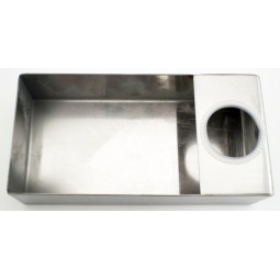 Kindercare drip tray with grommet