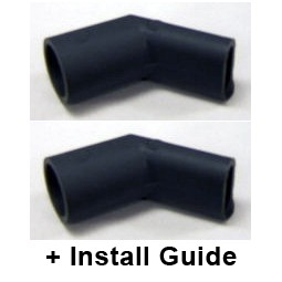 2 drain elbows + install guide (kit)