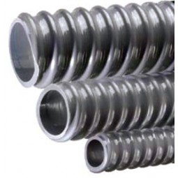 "Tigerflex non-insulated corrugated gray PVC drain tubing 3/4""ID x 1-1/16""OD x 100'"