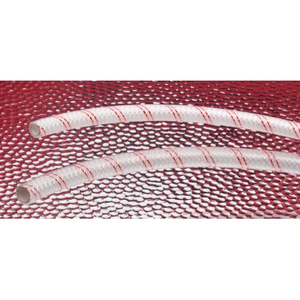 "Bev-Seal PET Ultra red line braided barrier tubing 1/2""ID x 3/4""OD 300'"