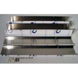 "Chase, SS, 4-sided with lid and hardware 4 x 4 x 48"" [(2) 2' long channels and (2) lids]"