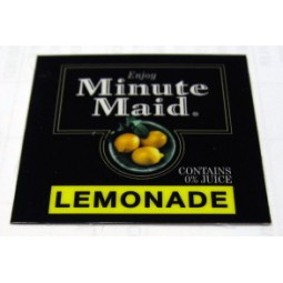 FS valve label, Minute Maid Lemonade 2x2