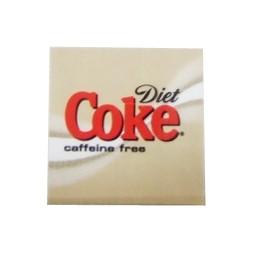 FS valve label, Caffeine Free Diet Coke 2x2