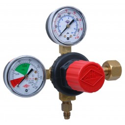"Primary soda regulator, 1P1P, CGA320 inlet, 1/4"" flare outlet w/check, 160 lb and 2000 lb gauges"