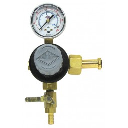 "Primary beer regulator, 1P1P, CGA320 inlet, 5/16"" barb shut‐off w/check, 60 lb gauge"