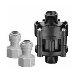"65 psi water pressure reducer valve, 1/4"" John Guest® fittings"