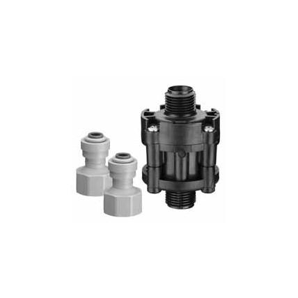 "65 psi water pressure reducer valve, 1/4"" John Guest® fittings"