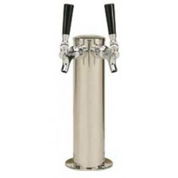 "3"" Cylinder tower 2 faucet SS air cooled"
