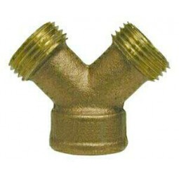 "GH cast brass 3/4 ""Y"" connector"