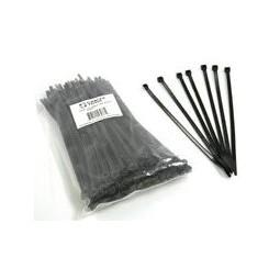 "Cable ties 14.5"" black screw mount 120#"