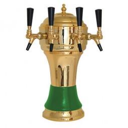 Zeus tower gold/green 4 faucet