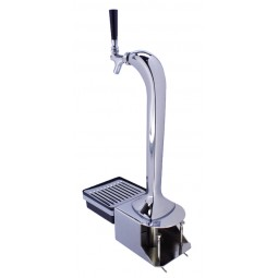Mongoose tower chrome 1 US faucet with chrome clamp-on bracket & drip tray