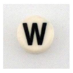 Button cap W black lettering white cap