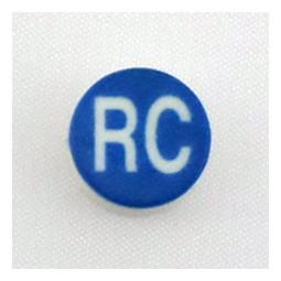 Button cap RC white lettering blue cap