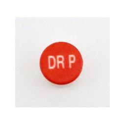 Button cap DR P white lettering red cap