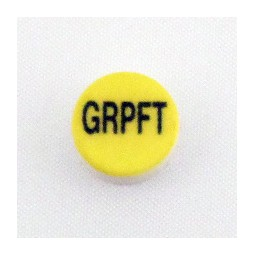 Button cap GRPFT black lettering yellow cap