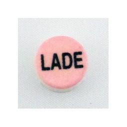Button cap LADE black lettering pink cap
