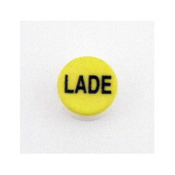 Button cap LADE black lettering yellow cap