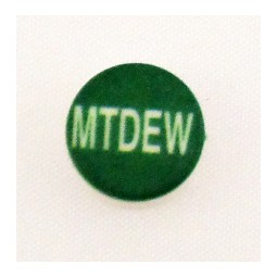 Button cap MTDEW white lettering green cap