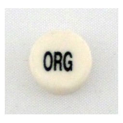 Button cap ORG black lettering white cap