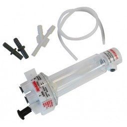 """Tecflo Deluxe FOB detector, 2 3/8"""" barb fittings, 1' of drain tube, """"Y"""" fitting to join the drain tubes"""
