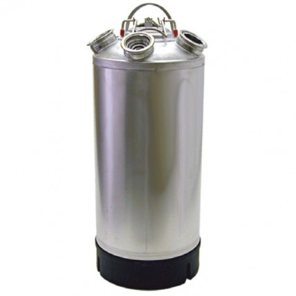 "4.8 gallon stainless steel cleaning can with 2-""D"" and 2-""U"" system valves"
