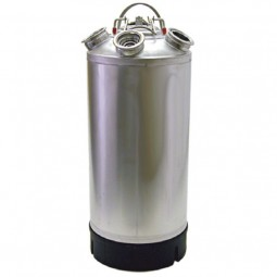 "5.0 gallon stainless steel cleaning can with 2 ""D"", 1 ""S"", and 1 ""U"" valves"