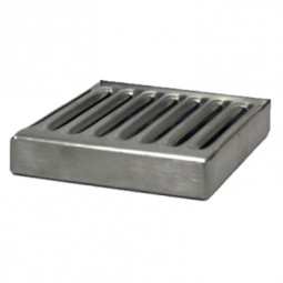 "Stainless steel drip tray with SS insert no drain 5-3/8"" x 3/4"" x 5"""