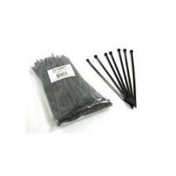"Cable ties 8"" standard, UV black, 50 tensil, 100/bag"