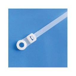 "Cable ties screw mount 15"" standard, natural, 100/bag"