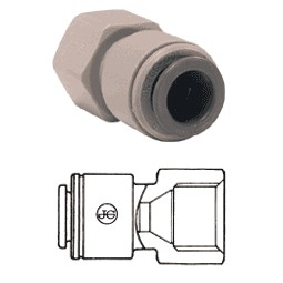 Female connector tube 1/2 OD x 5/8 BSPP cone end