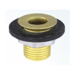 "1-1/8"" Brass drain with lock nut and washer"