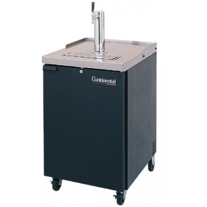 1 Keg dispenser with black exterior and SS top