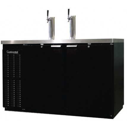 2 Keg dispenser with black exterior and SS top