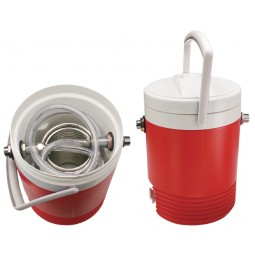 8 qt SS coil cooler with a 50' coil and 2 cooler coupling shanks