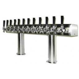 Pass thru box tower 18 faucet SS air