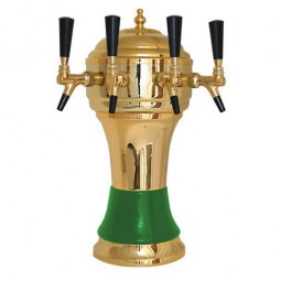 Zeus tower gold/green 4 faucet air cooled