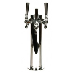 "3"" Column tower 2 faucet chrome, SS tubing, air cooled"