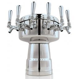 Mushroom large tower polished SS finish 4 faucets air cooled