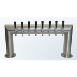 """4"""" Pass Thru tower 8 faucet brushed SS 33""""W air cooled"""
